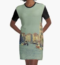 Venice, Grand Canal Graphic T-Shirt Dress