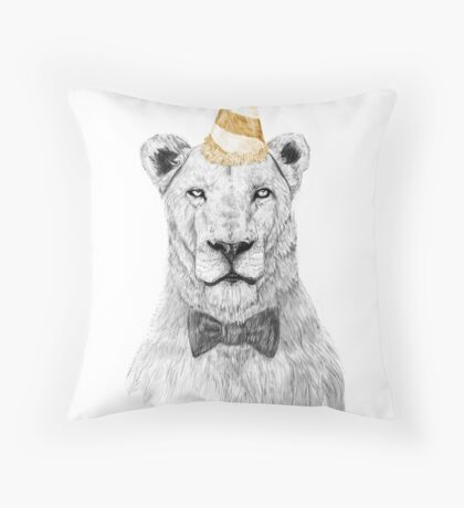 Get the party started (color) Throw Pillow