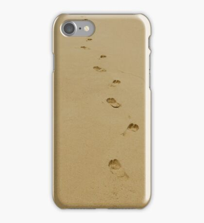 Footprints In The Sand iPhone Case/Skin