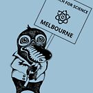 March for Science Canberra – Melbourne, black by sciencemarchau