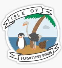 Isle of Flightless Birds Sticker