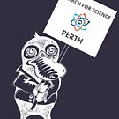 March for Science Perth – Platypus, white by sciencemarchau