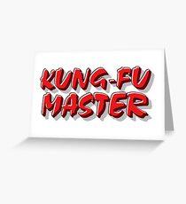 Kung-Fu Master Greeting Card