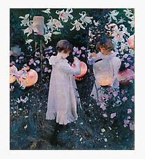 John Singer Sargent - Carnation, Lily, Lily, Rose Photographic Print