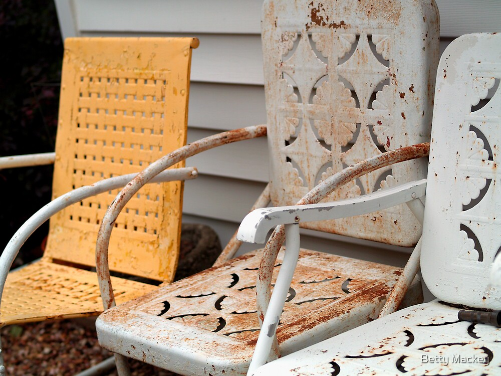 Rusty Lawn Chairs by Betty Mackey