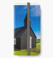 Budir black church in Iceland iPhone Wallet/Case/Skin