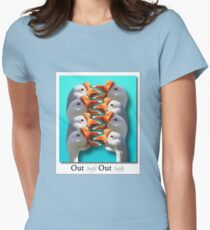 Safe - Out - Safe - Out Womens Fitted T-Shirt