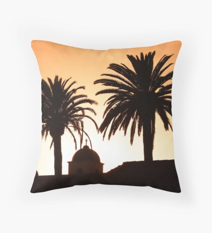Mission Sunset Throw Pillow