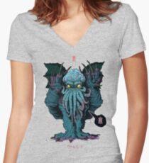 Strange Aeons Women's Fitted V-Neck T-Shirt