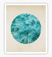 Turquoise depths - porthole paper design Sticker