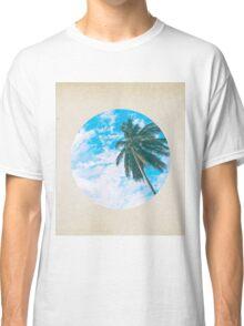 Coconut palms - porthole paper design Classic T-Shirt