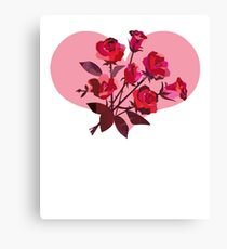 Best Mother's Day Gift Beautiful Red Rose Floral Art Canvas Print