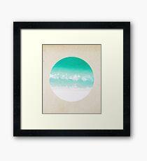 Crystal waves - porthole paper design Framed Print