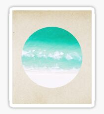 Crystal waves - porthole paper design Sticker