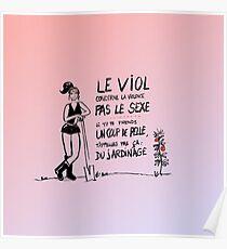 Le viol et le jardinage - rose Poster