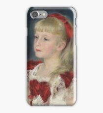Auguste Renoir - Mademoiselle Grimprel With Red Ribbon (Helene Grimprel), 1880 iPhone Case/Skin