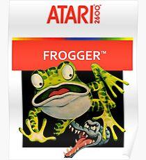 Atari 2600 - Frogger (Transparent)  Poster