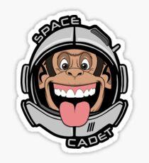 Space Cadet Chimp - Monkey Astronaut Ape Helmet Sticker