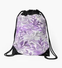 Watercolor Botanical Garden Drawstring Bag