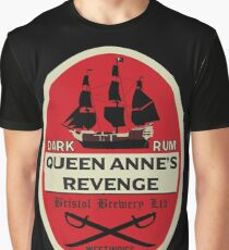 Königin Anne's Revenge Dark Rum Grafik T-Shirt
