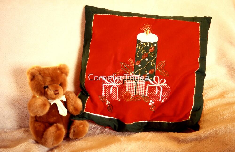 Christmas Teddy by Cornelia Togea