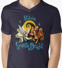 Making Spirits Bright Men's V-Neck T-Shirt