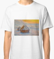 Claude Monet - Grainstacks At Sunset, Snow Effect, 1891 Classic T-Shirt