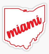 miami ohio Sticker