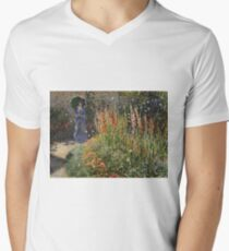 Claude Monet - Gladioli Mens V-Neck T-Shirt