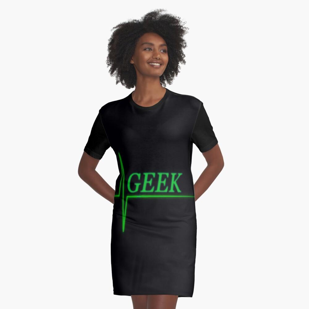 Geek Graphic T-Shirt Dress Front