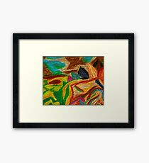 Colors Oil Pastel Framed Print