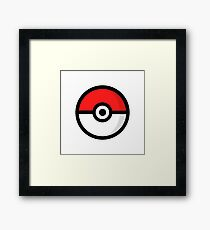 pokemon - pokeball Framed Print