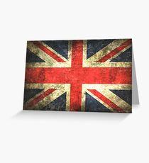 Vintage UK Flag Greeting Card