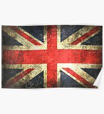 Vintage UK Flag Poster