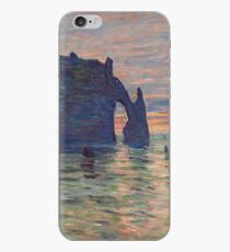 Claude Monet - Etretat, Sunset, 1883 iPhone Case