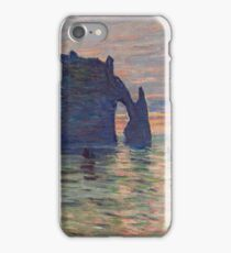 Claude Monet - Etretat, Sunset, 1883 iPhone Case/Skin