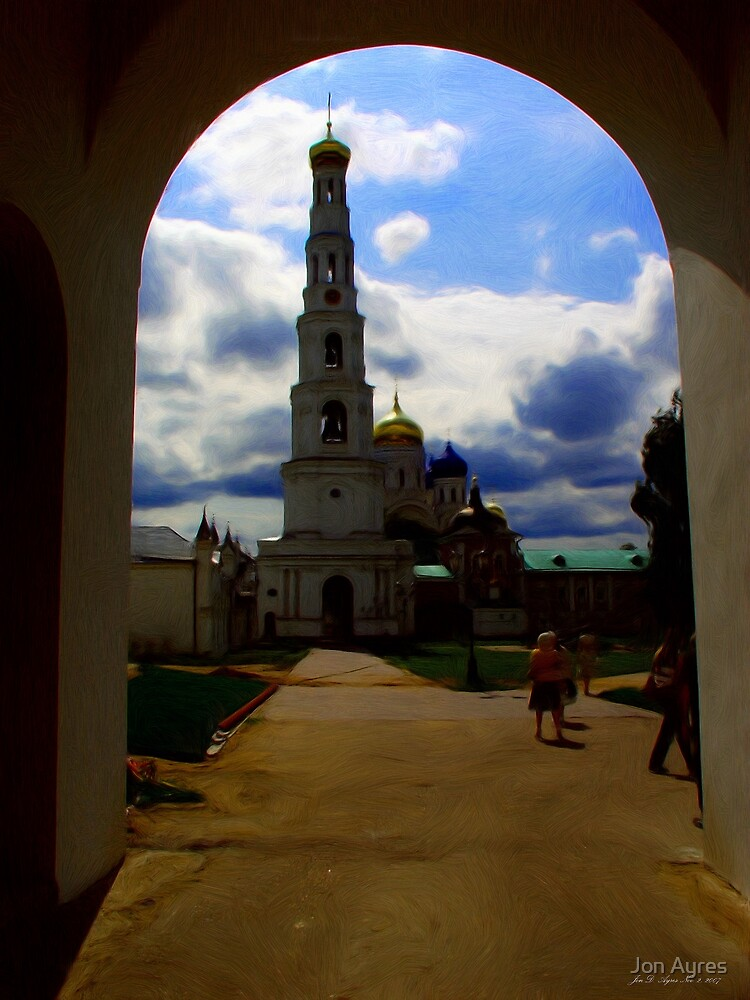 Nikolo-Ugreshsky monastery entrance by Jon Ayres