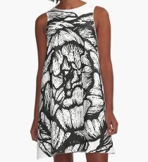 peony graphic, floral, design, flower, illustration, pattern A-Line Dress