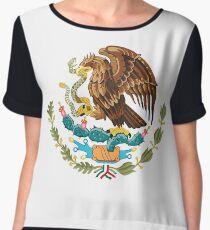 Mexico Coat of Arms  Women's Chiffon Top