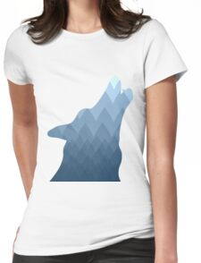 Wolf Mountain Howl Womens Fitted T-Shirt