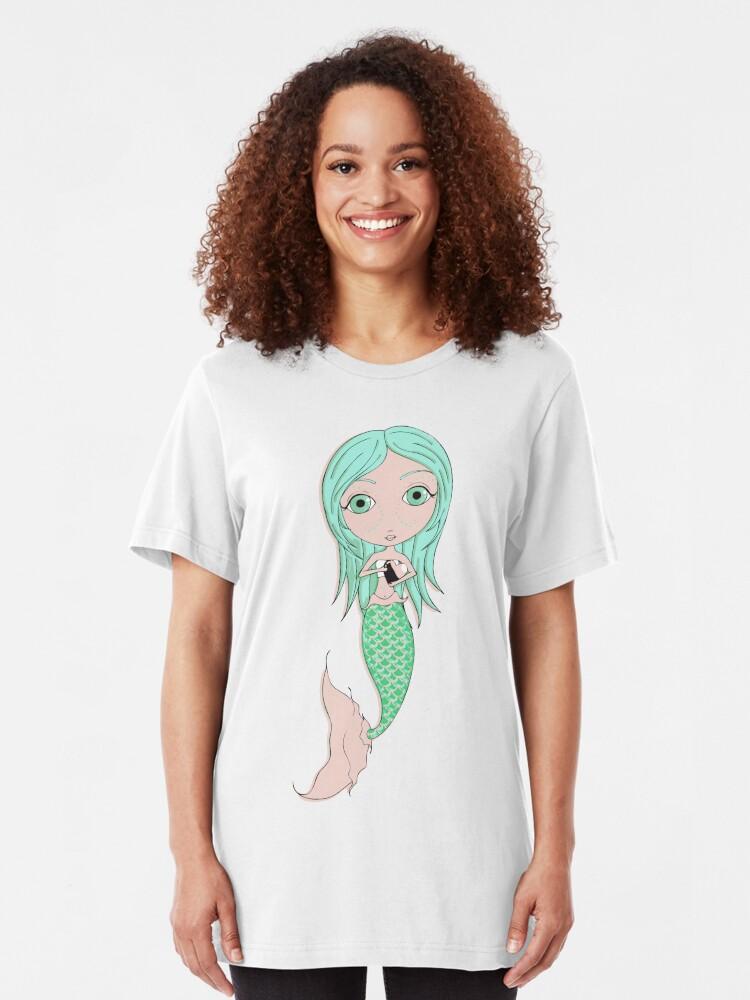 Alternate view of I Heart Mermaids - 3rd of 4 Slim Fit T-Shirt