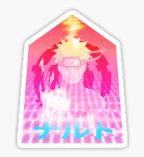 naruto - vaporwave - shogi Sticker