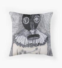 Vintage gas-mask Throw Pillow