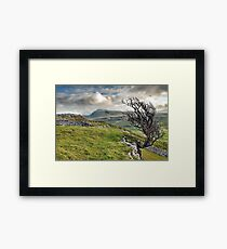 Ingleborough from Twistleton Scar, Yorkshire Dales Framed Print