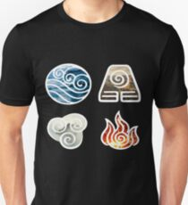 Avatar the Last Airbender Element Symbols Unisex T-Shirt