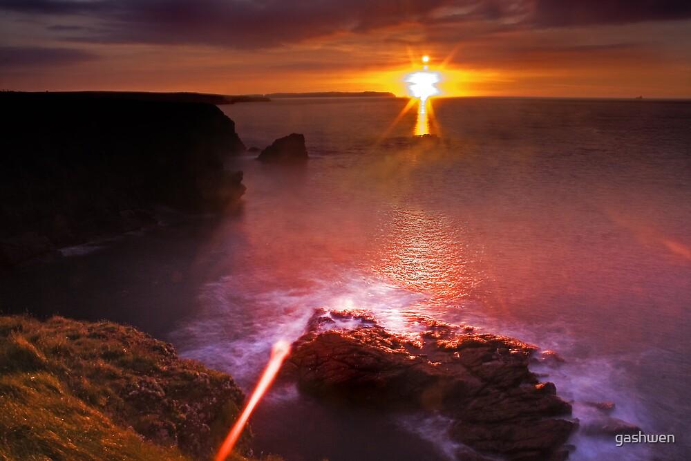searing sunset by gashwen