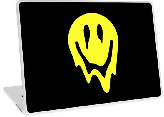 Melting Smiley Face Laptop Skins By Pink Blood Redbubble