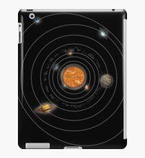 Solar System Orbits, Illustration iPad Case/Skin