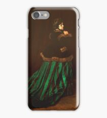 Claude Monet - Camille (Also Known As The Woman In A Green Dress), 1866 iPhone Case/Skin