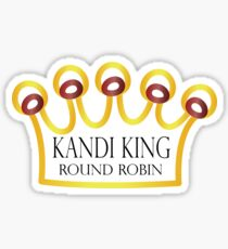Kandi King Round Robin Sticker